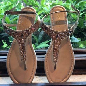 Gold rhinestone Sandal size 8 1/2